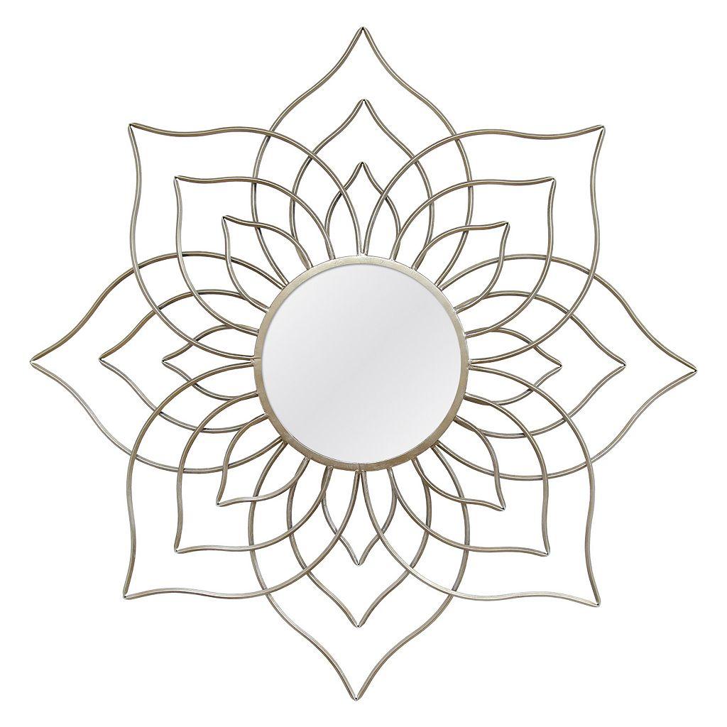 Stratton Home Decor Brieanne Lotus Flower Wall Mirror