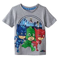 Toddler Boy PJ Masks Gray Catboy, Gekko, Owlette Graphic Tee