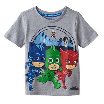 Toddler Boy PJ Masks Gray Catboy, Gekko, Owlette Graphic Tee