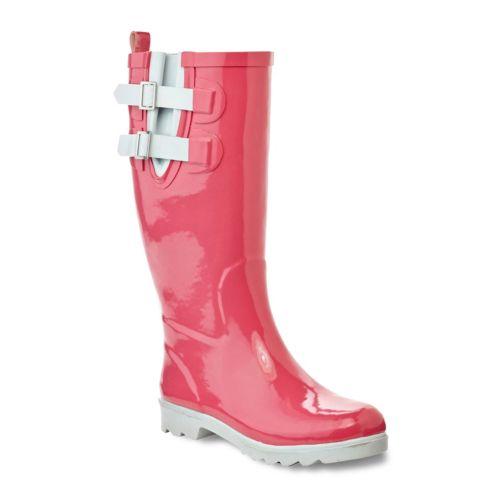 Henry Ferrera Black Stone ... Women's Water-Resistant Rain Boots