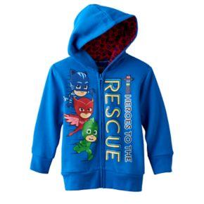 "Toddler Boy PJ Masks ""Heroes to the Rescue"" Catboy, Owlette & Gekko Zip-Up Hoodie"
