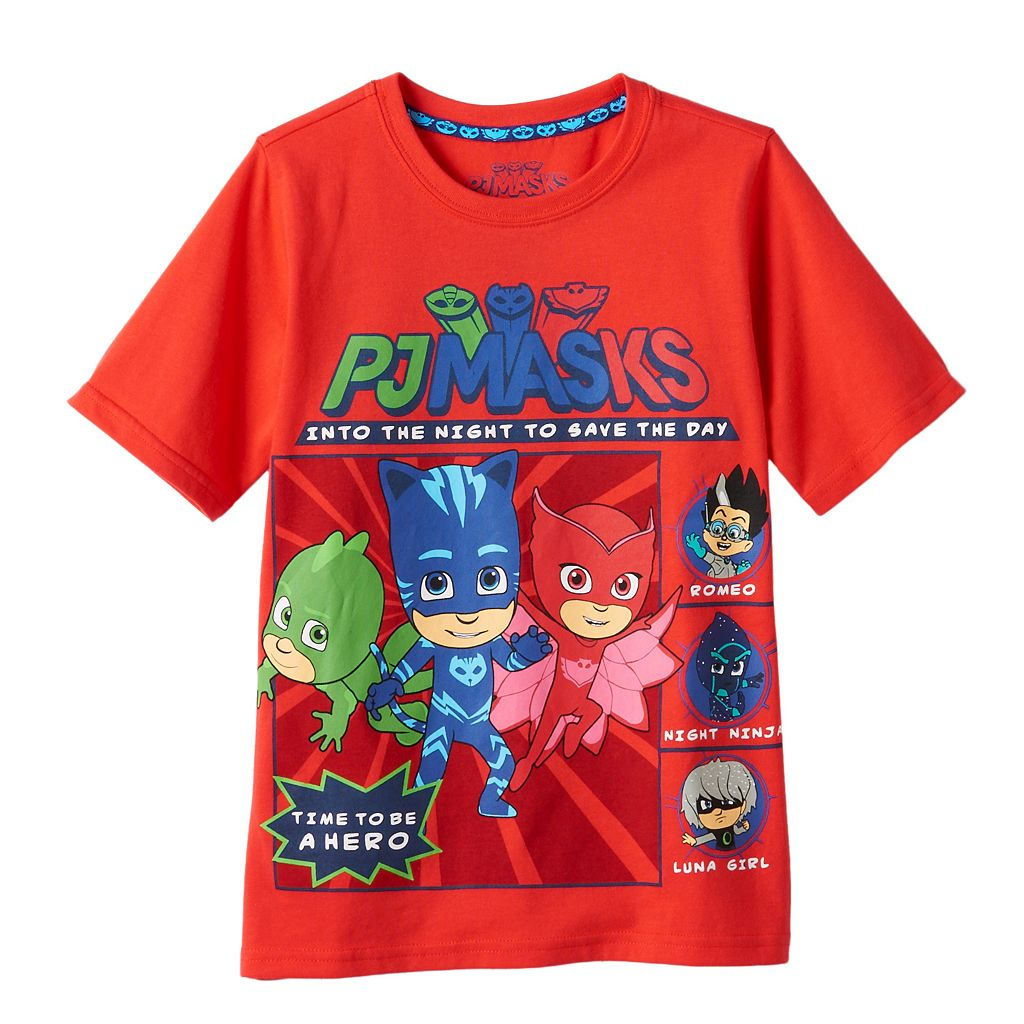 Toddler Boy PJ Masks Gekko, Catboy, Owlette & Villains Tee