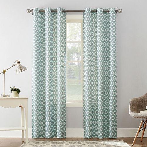 The Big One® 2-pack Geometric Decorative Window Curtains