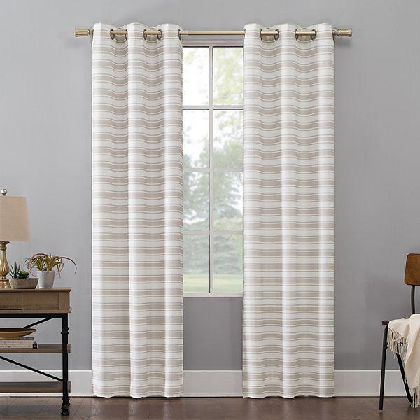 2 Pack Geometric Decorative Window Curtains