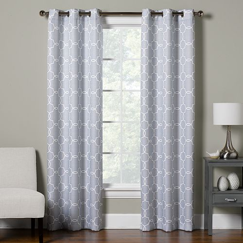 The Big One® Decorative 2-pack Trellis Window Curtain