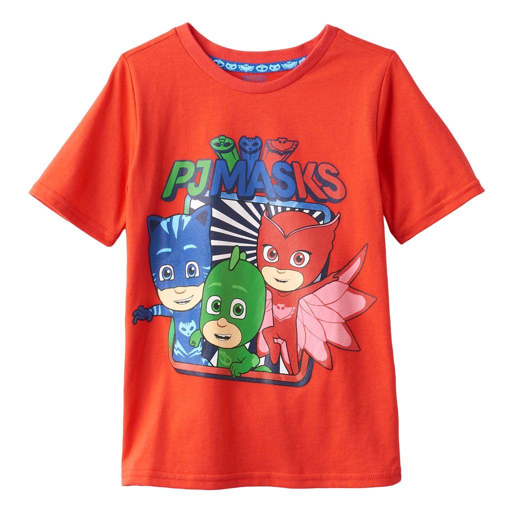 Toddler Boys PJ Masks Catboy, Gekko & Owlette Graphic Tee