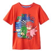 Toddler Boys PJ Masks Catboy, Gekko & Owlette Graphic Tee