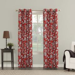 Red Curtains Drapes Window Treatments Home Decor Kohl S