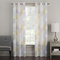 The Big OneR 2 Pack Floral Decorative Window Curtains