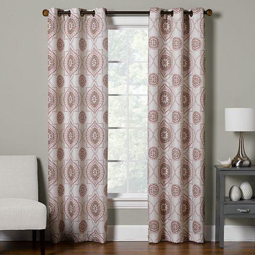 The Big One® 2-pack Medallion Decorative Window Curtain