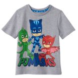 Toddler Boy PJ Masks Gekko, Catboy & Owlette Gray Graphic Tee
