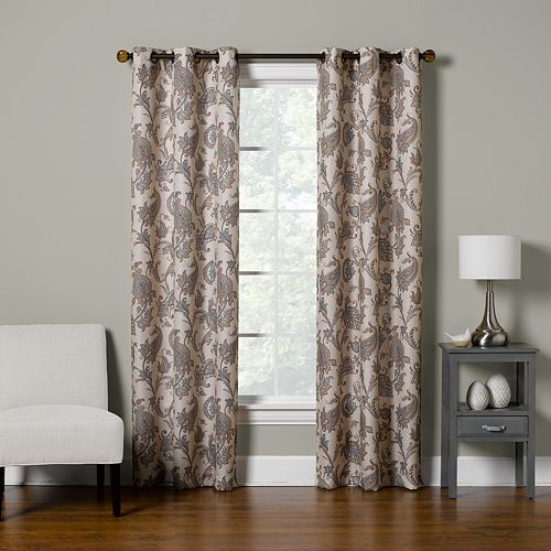 The Big One® Decorative 2-pack Floral Paisley Scroll Window Curtain