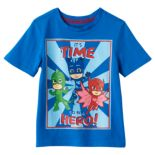 "Toddler Boy PJ Masks Gekko, Catboy & Owlette ""It's Time to be a Hero"" Blue Graphic Tee"