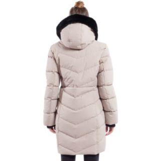 Women's Noize Faux-Fur Hood Long Puffer Jacket