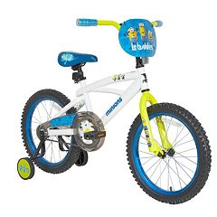 Kids Minions 18-Inch Bike with Training Wheels