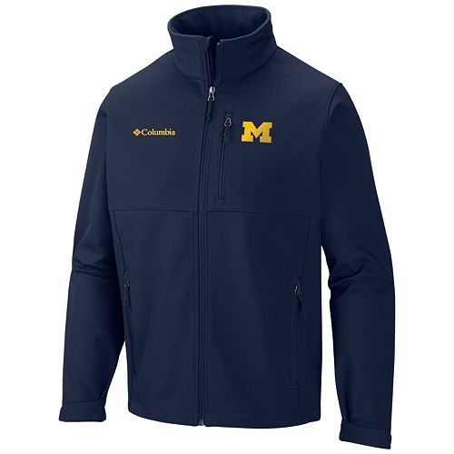 Men's Columbia Michigan Wolverines Ascender Softshell Jacket
