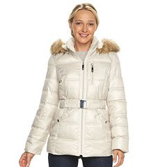 Women's Halitech Faux-Fur Trim Hooded Puffer Jacket