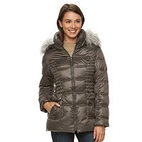 Women's Halitech Hooded Faux-Fur Trim Puffer Jacket