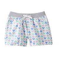 Toddler Girl Jumping Beans® Ribbed Waist Woven Patterned Shorts
