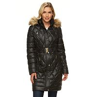 Women's Halitech Hooded Belted Puffer Walker Coat