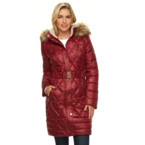 Women's Halitech Hooded Belted Puffer Walker Coat