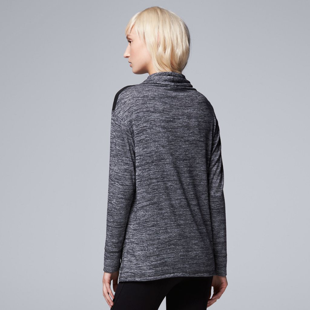 Women's Simply Vera Vera Wang Simply Separates Cowlneck Sweatshirt