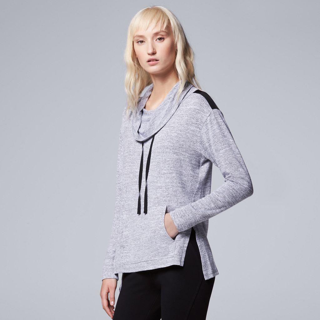 Women's Simply Vera Vera Wang Simply Separates Cowlneck Sweatshirt