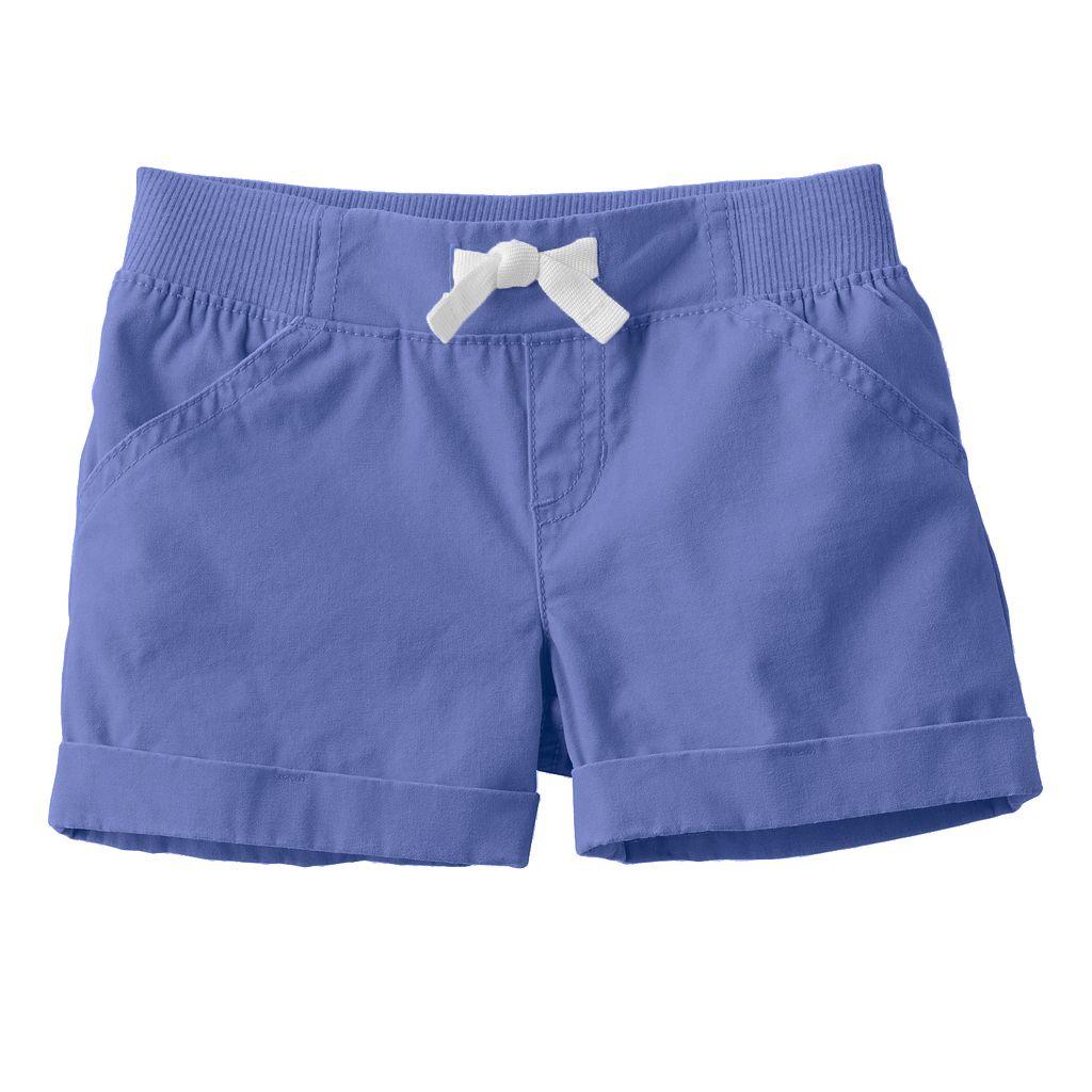 Toddler Girl Jumping Beans® Ribbed Waist Woven Shorts