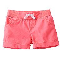 Toddler Girl Jumping Beans® Ribbed Waist Woven Shorts