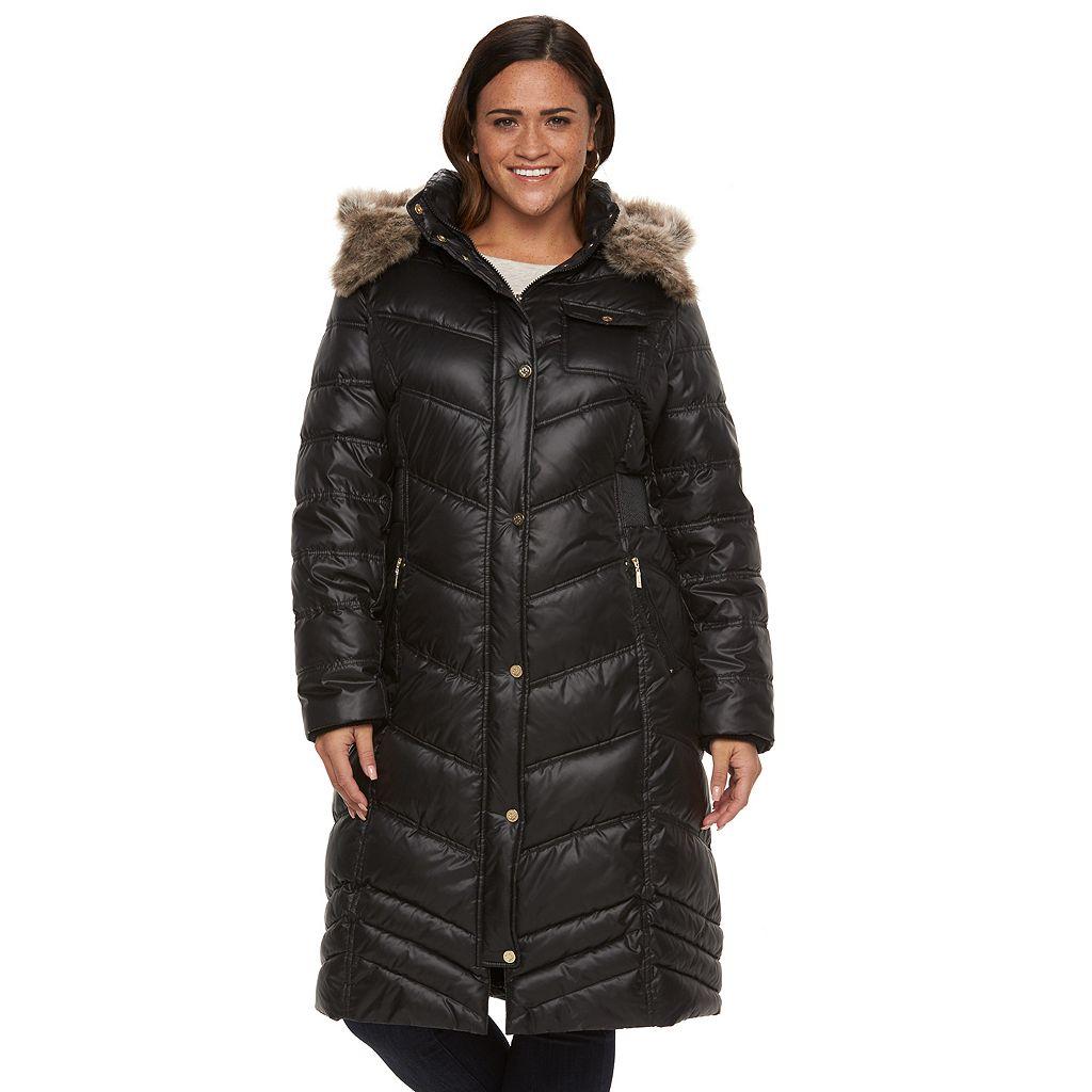 Plus Size Halitech Hooded Puffer Walker Coat