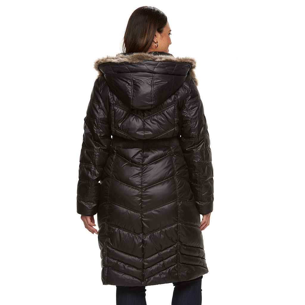 Plus Size Halitech Hooded Puffer Walker Coat