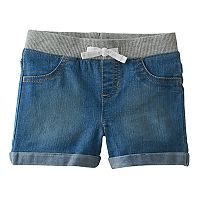 Toddler Girl Jumping Beans® Ribbed Waist Stretchy Denim Shorts