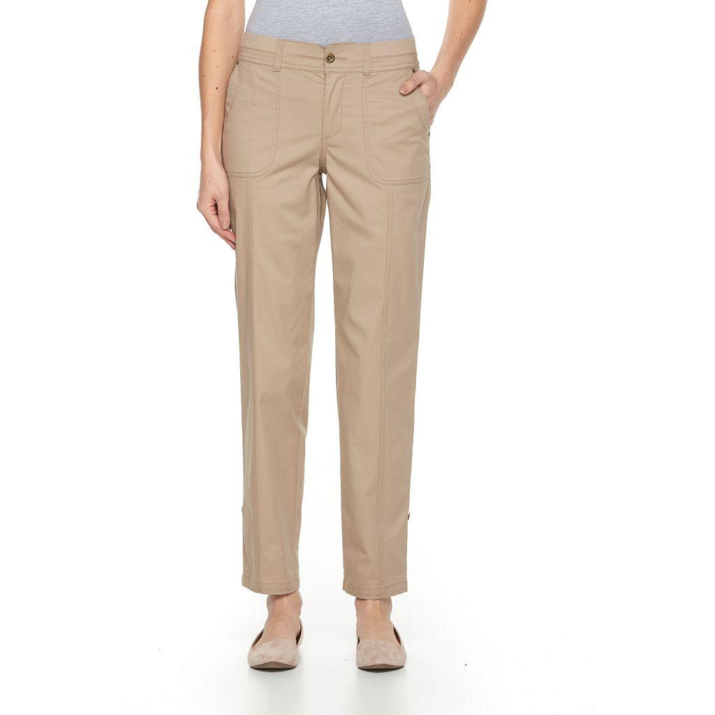 Women's Croft & Barrow® Twill Convertible Pants