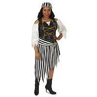 Adult Plus Pretty Pirate Princess Costume