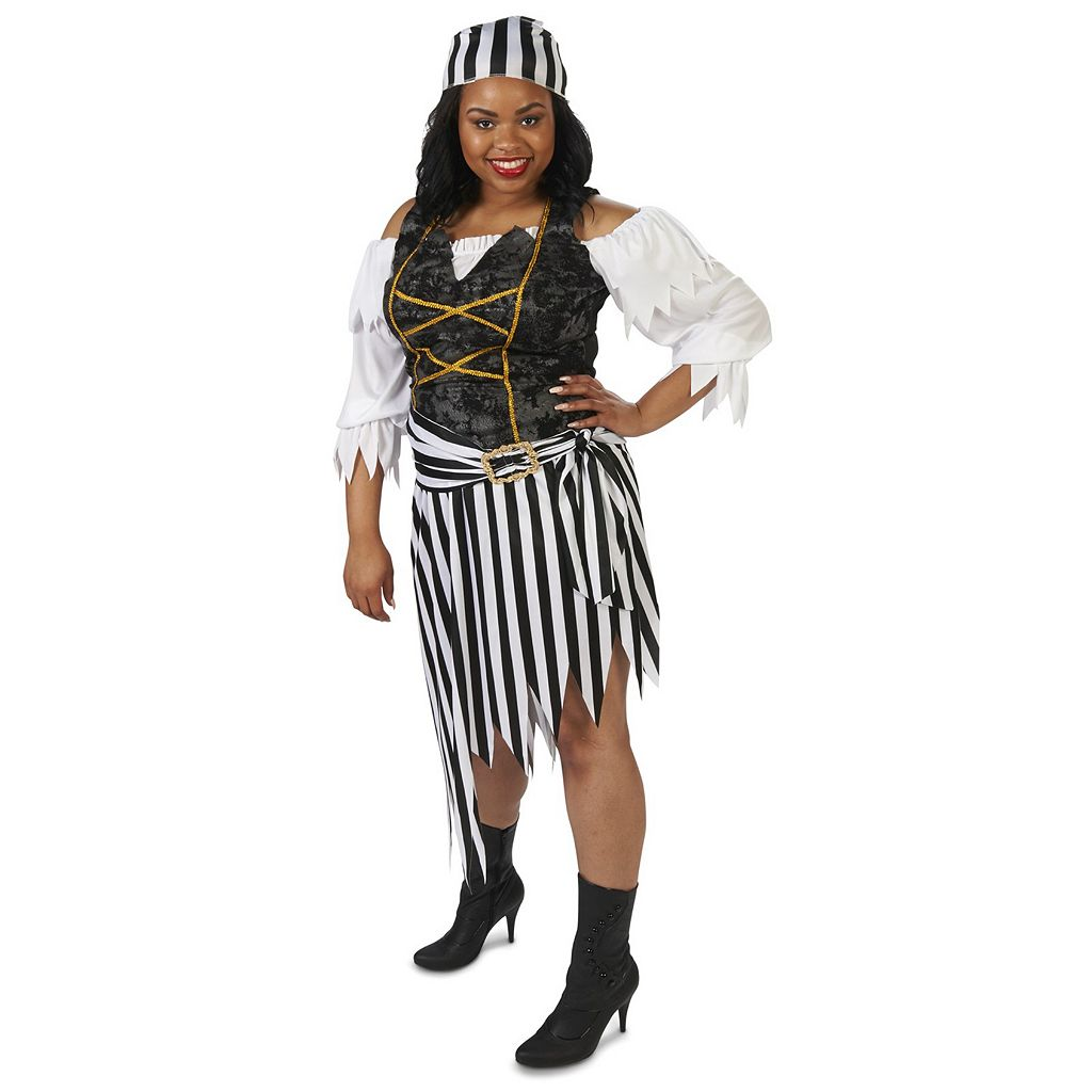 Adult Plus Pretty Pirate Princess Costume