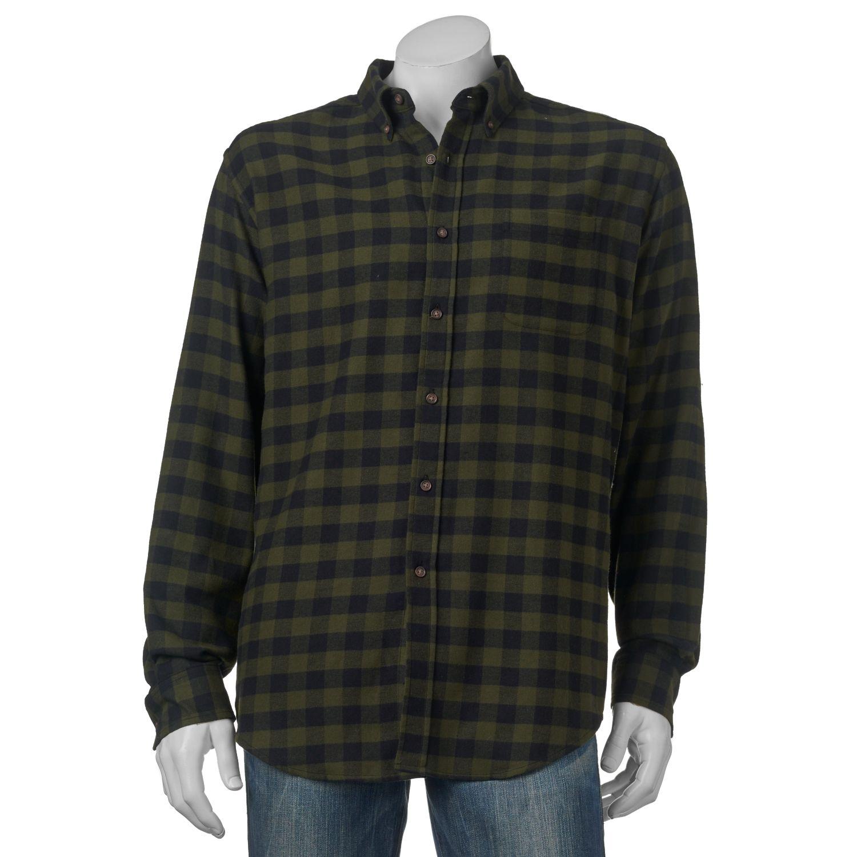 Mens Green Button Down Shirt