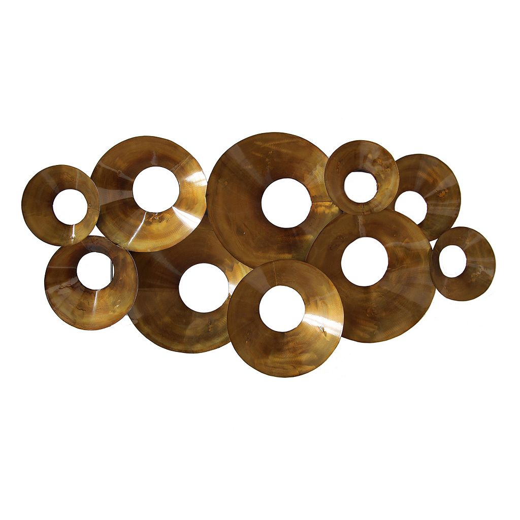 Stratton Home Decor Layered Circles Metal Wall Decor