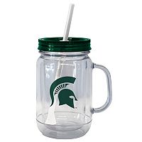 Boelter Brands Michigan State Spartans 20-Ounce Plastic Mason Jar Tumbler