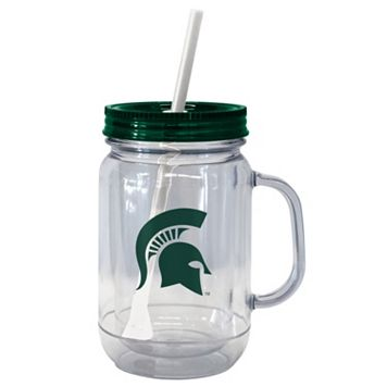 Boelter Brands Michigan State Spartans 20-Ounce Plastic Mason Jar Tumbler