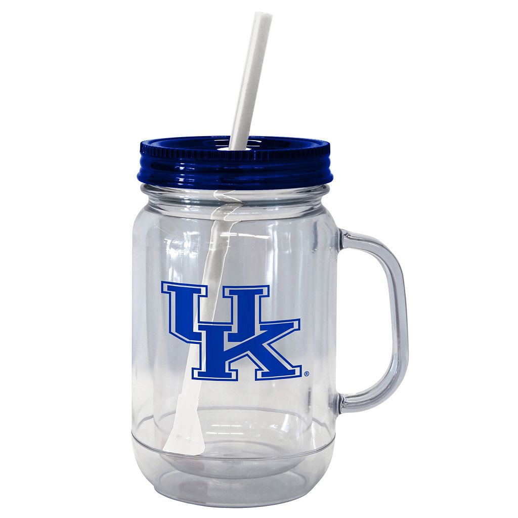 Boelter Brands Kentucky Wildcats 20-Ounce Plastic Mason Jar Tumbler