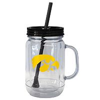 Boelter Brands Iowa Hawkeyes 20-Ounce Plastic Mason Jar Tumbler