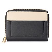 REED Colorblock Square Zipper Wallet