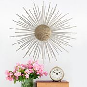 Stratton Home Decor Gold Tone Burst Wall Decor