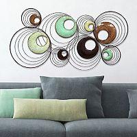 Stratton Home Decor Multicolored Circles Metal Wall Decor