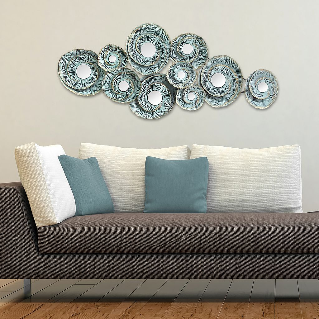 Stratton Home Decor Geometric Waves Metal Wall Decor