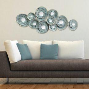 Stratton Home Decor Geometric Waves Metal Wall Decor