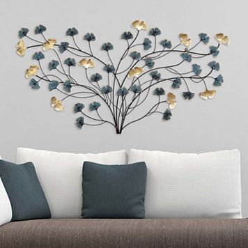 Stratton Home Decor Blooming Flowers Metal Wall Decor