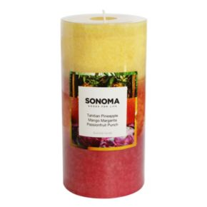 """SONOMA Goods for Life? 6"""" x 3"""" Tahitian Pineapple Tri-Pour Pillar Candle"""