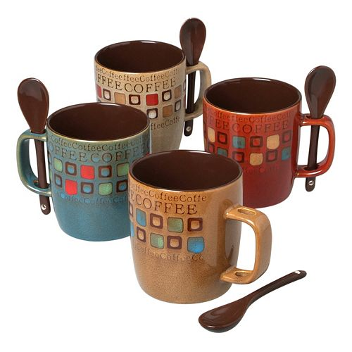 Mr. Coffee Cafe Americano 8-pc. Coffee Mug & Spoon Set