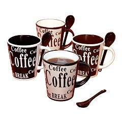 Mr. Coffee Bareggio 8-pc. Coffee Mug & Spoon Set